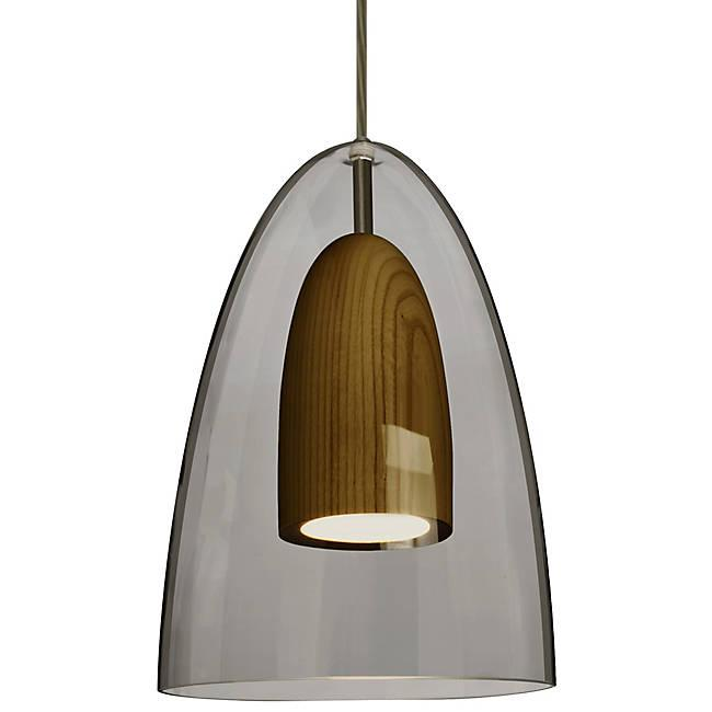 Dano LED Mini Pendant - Smoke, Dark Wood, Bronze