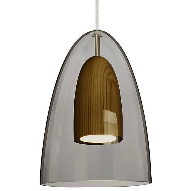 Dano LED Mini Pendant - Smoke, Dark Wood, Satin Nickel