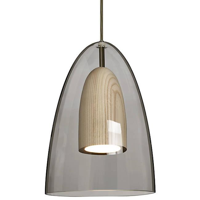 Dano LED Mini Pendant - Smoke, Natural Wood, Bronze