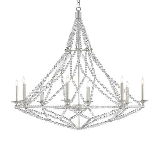 Danseur Chandelier - Silver Leaf Finish