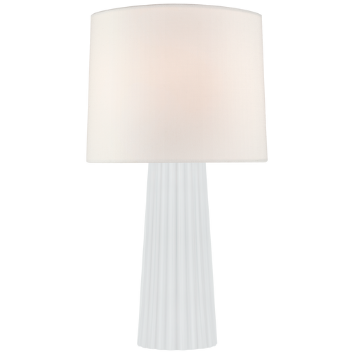 Danube Medium Table Lamp - White Glass