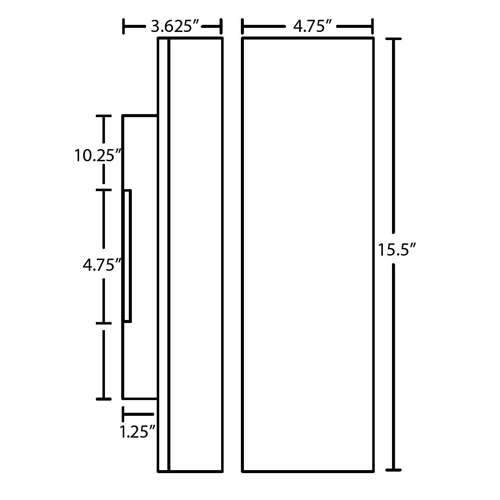 Darci 16 Two Light Wall Sconce - Diagram