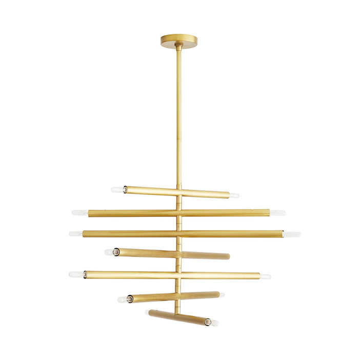 Dean Chandelier - Antique Brass Finish