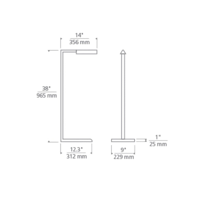 "Dessau 38"" Floor Lamp - Diagram"