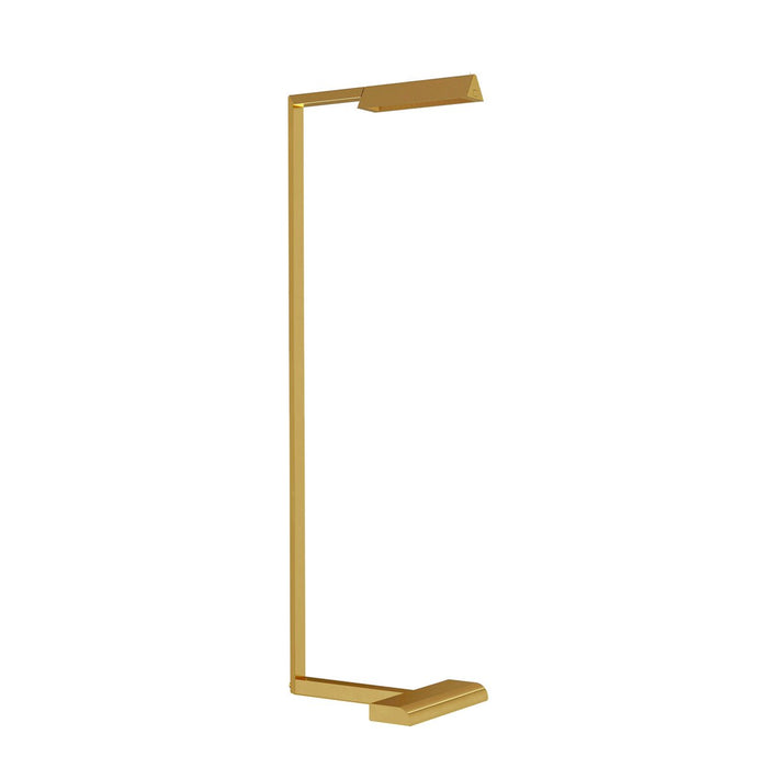 Dessau Floor Lamp - Natural Brass Finish