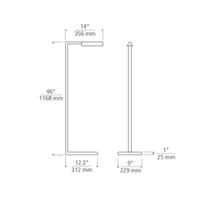 "Dessau 46"" Floor Lamp - Diagram"
