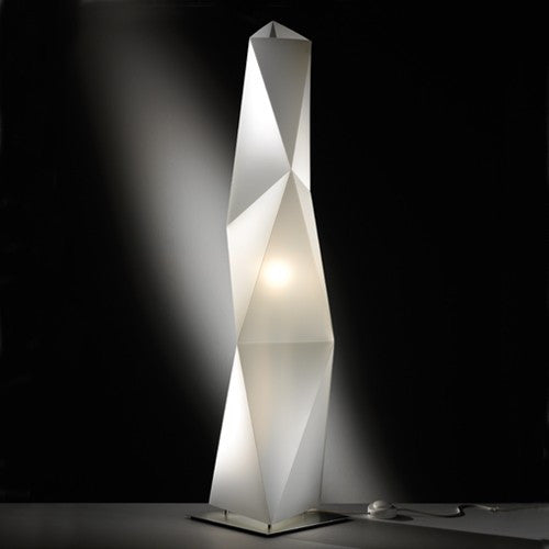 Diamond Floor Lamp - Opal Finish