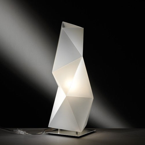Diamond Small Table Lamp - Opal Finish