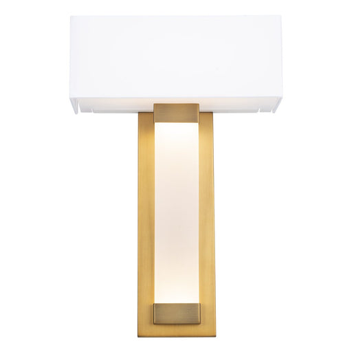 Diplomat LED Wall Sconce - Aged Brass Finish