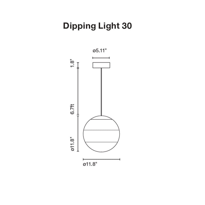Dipping Large Pendant - Diagram