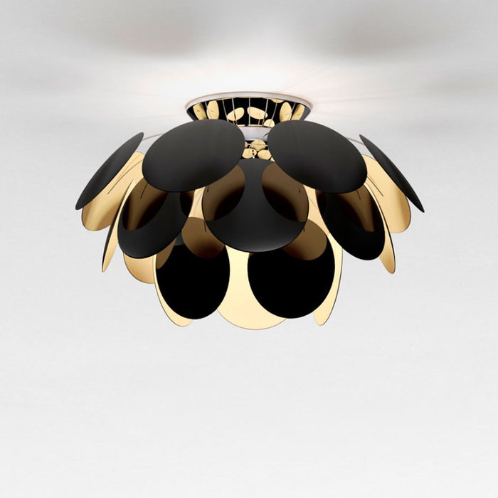 Discoco Ceiling Light - Black/Gold Finish