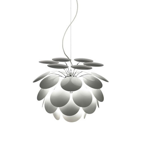 "Discoco 14"" Pendant Light - White Finish"