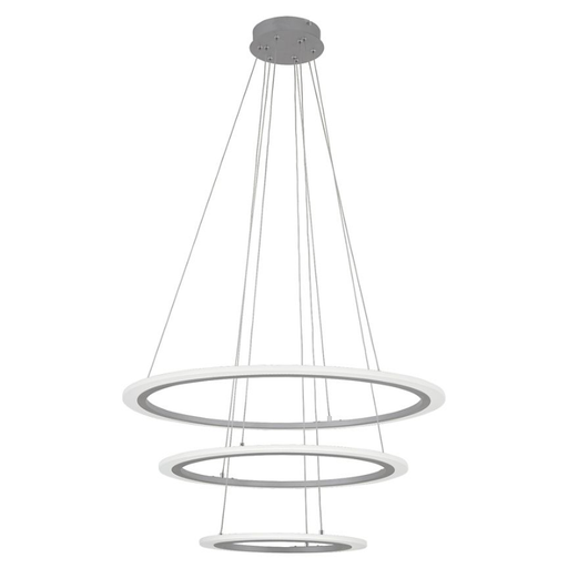 Discovery 3-Ring LED Pendant - Silver Finish