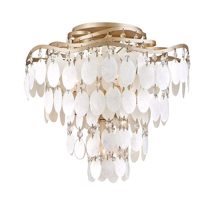 Dolce Large Semi Flush Mount - Champagne Leaf Finish