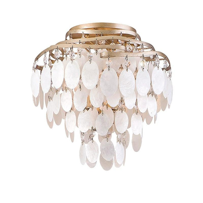 Dolce Small Semi Flush Mount - Champagne Leaf Finish