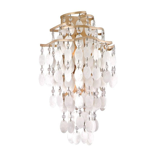 Dolce Large Wall Sconce - Champagne Leaf Finish