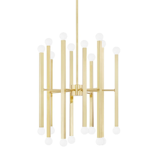Dona Chandelier - Aged Brass Finish