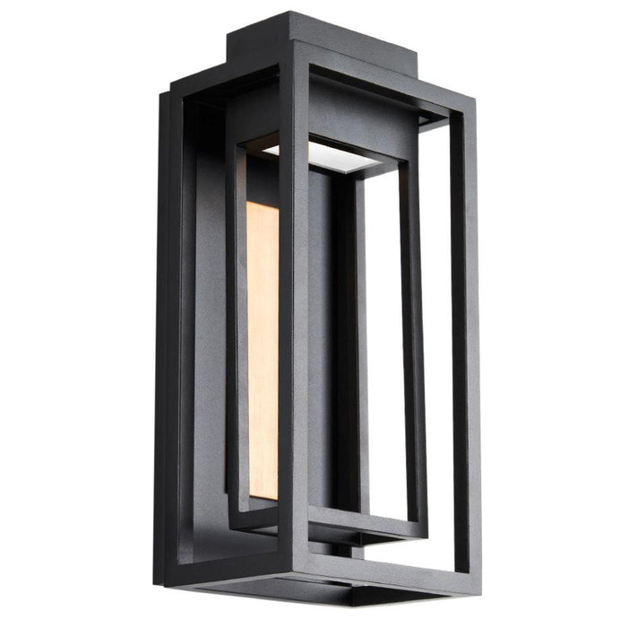 "Dorne 14""  LED Outdoor Wall Sconce - Aged Brass/Black Finish"
