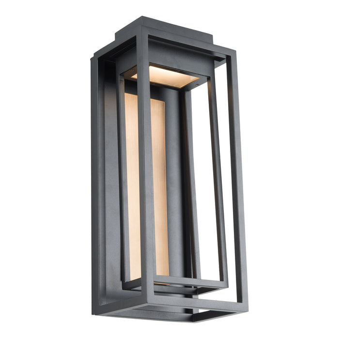 "Dorne 18""  LED Outdoor Wall Sconce - Aged Brass/Black Finish"