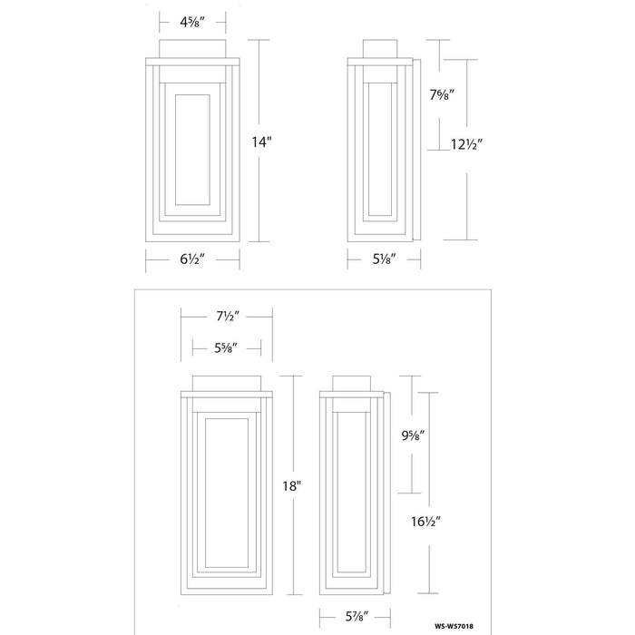 Dorne LED Outdoor Wall Sconce - Diagram