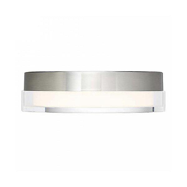 "Dot 9"" LED Flush-Mount Ceiling Light - Stainless Steel"