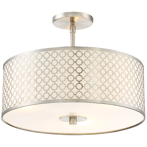 Dots Semi Flush Ceiling Light - Brushed Nickel Finish