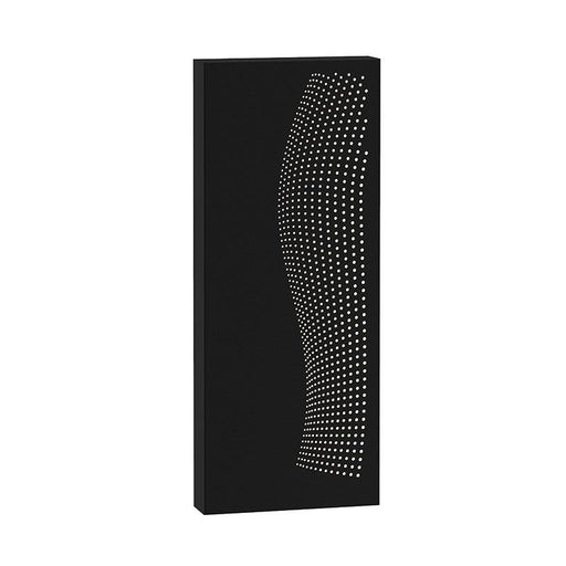 Dotwave Rectangle LED Outdoor Wall Sconce - Textured Black Finish