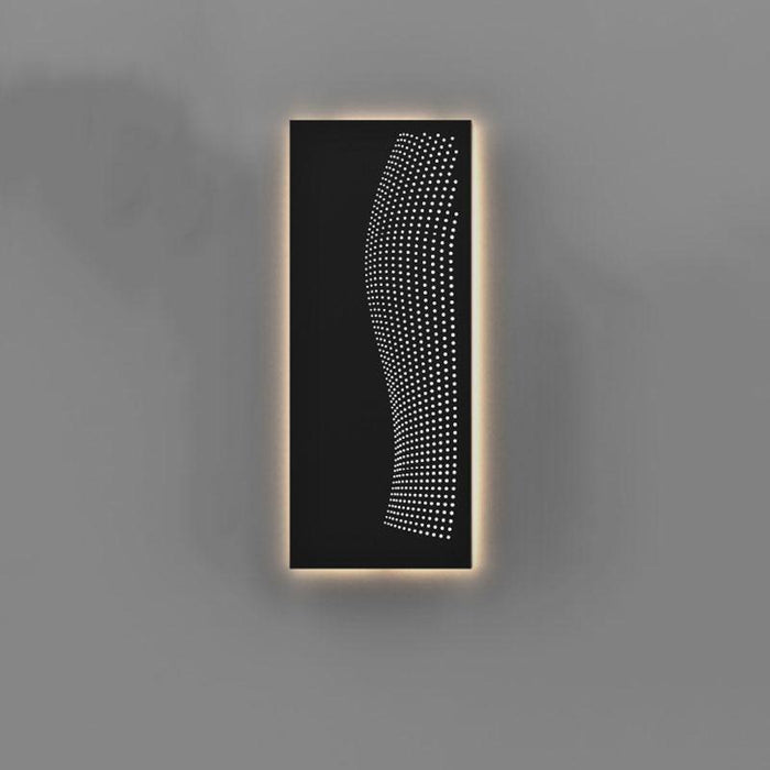 Dotwave Rectangle LED Outdoor Wall Sconce - Display