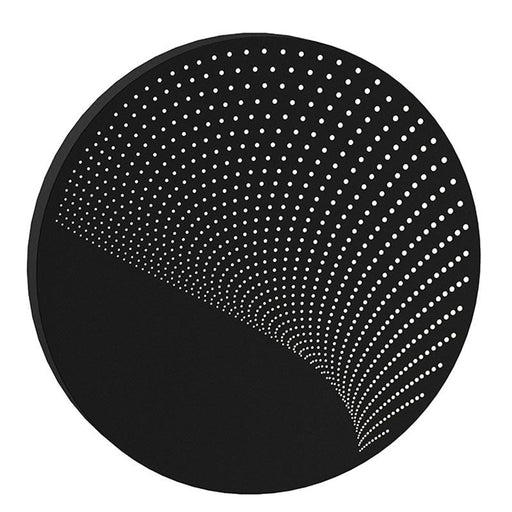 Dotwave Large Round LED Outdoor Wall Sconce - Textured Black Finish