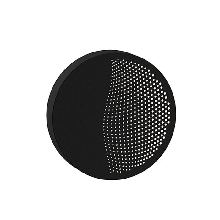 Dotwave Small Round LED Outdoor Wall Sconce - Textured Black Finish