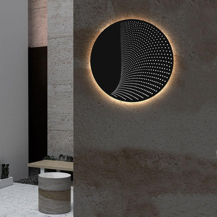 Dotwave Round LED Outdoor Wall Sconce - Display
