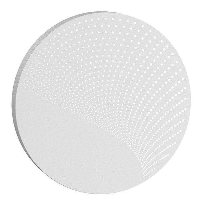 Dotwave Large Round LED Outdoor Wall Sconce - Textured White Finish