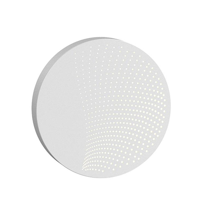 Dotwave Medium Round LED Outdoor Wall Sconce - Textured White Finish