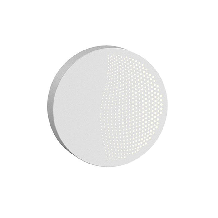 Dotwave Small Round LED Outdoor Wall Sconce - Textured White Finish