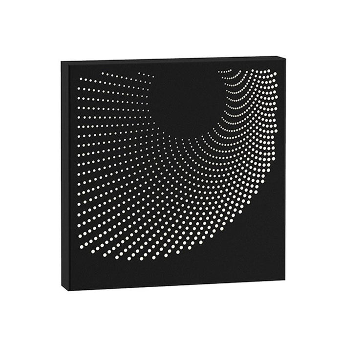 Dotwave Square LED Outdoor Wall Sconce - Textured Black Finish