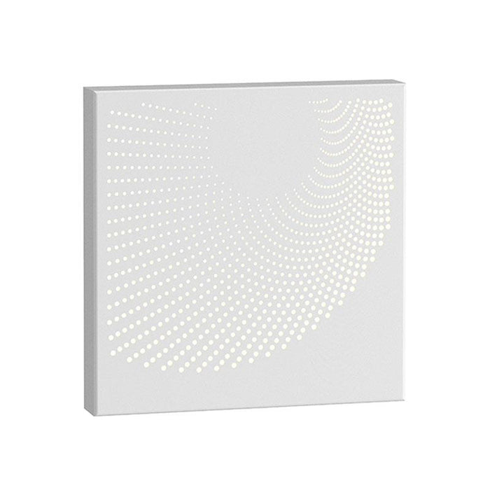 Dotwave Square LED Outdoor Wall Sconce - Textured White Finish