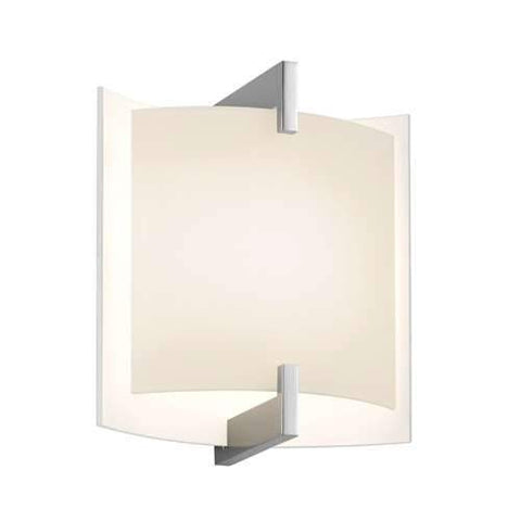 Double Arc Standard LED Wall Sconce - Polished Chrome