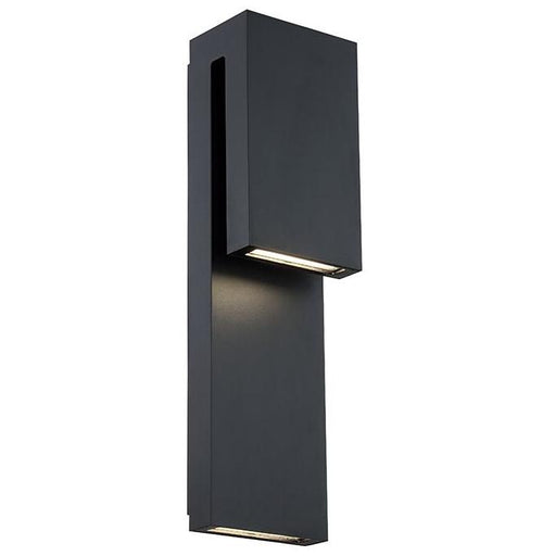 Double Down Outdoor Wall Sconce - Black Finish