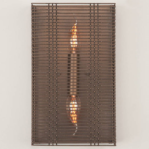 Downtown Mesh Cover Sconce - Flat Bronze - No Glass