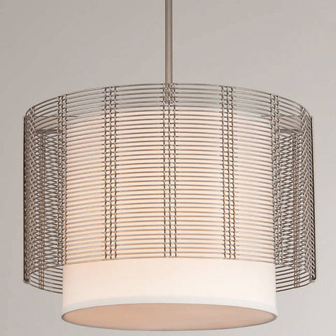 Downtown Mesh Drum Linen Chandelier