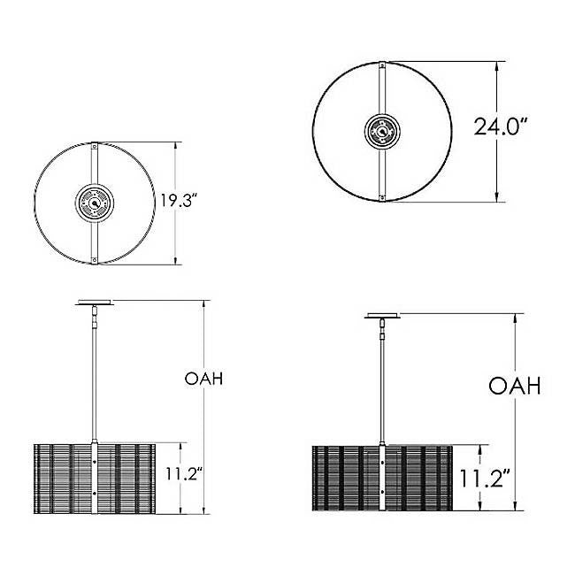 Downtown Mesh Drum Pendant - Diagram