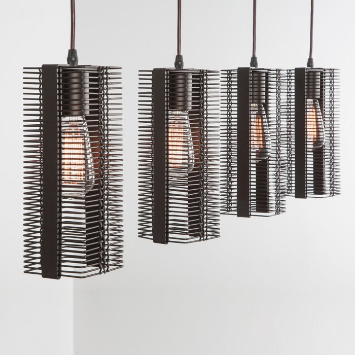 Downtown Mesh Linear Suspension Light - Flat Bronze