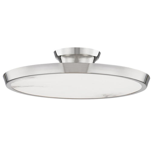 Draper Semi Flushmount - Polished Nickel Finish
