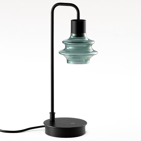 Drop Small Table Lamp Green Glass