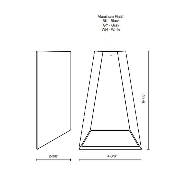 Drotto LED Outdoor Wall Sconce - Diagram