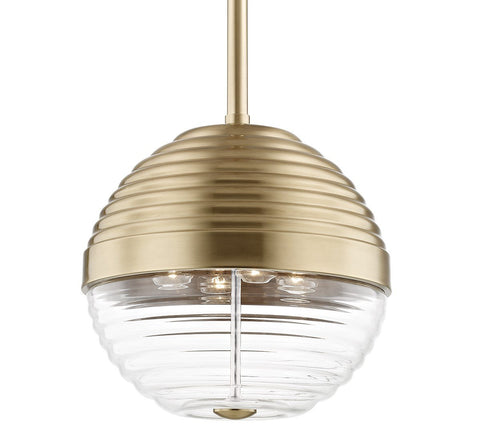 "EASTON 14"" PENDANT Aged Brass"