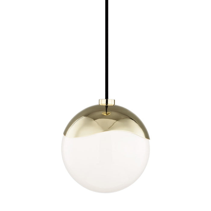 "ELLA 7.5"" PENDANT Polished Brass"