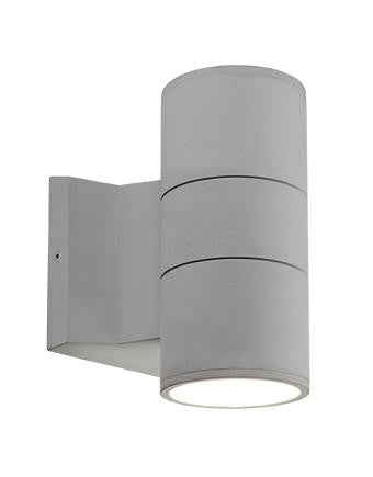 "Lund 7"" LED Outdoor Wall Sconce - Gray Finish"