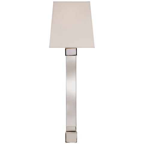 Edgar Large Sconce - Polished Nickel