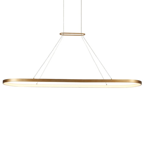 Eerie Large Linear Pendant - Antique Brass